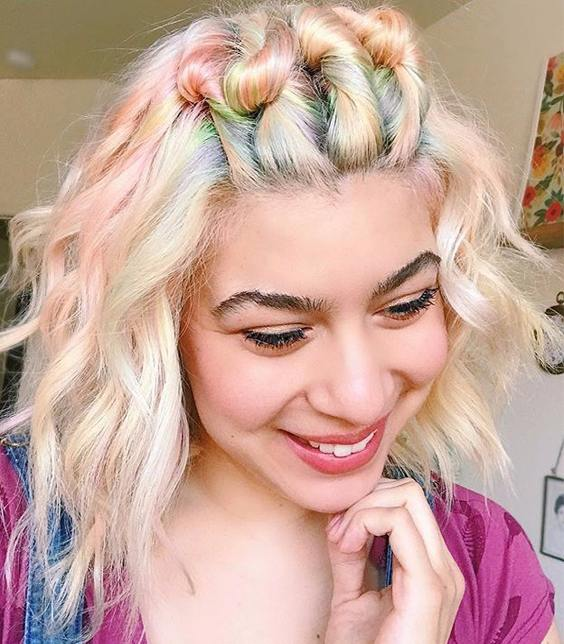 Fall hair color Pastel rainbow shades 2017