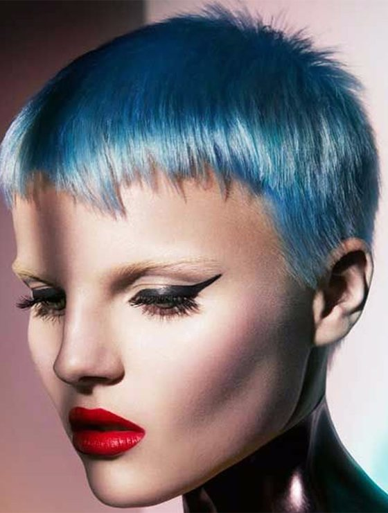 Colored Short Pixie winter Haircut 2017 2018