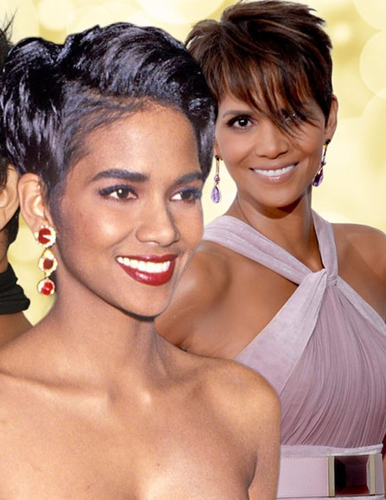 Halle Berry's Cute Short Haircut style 2018