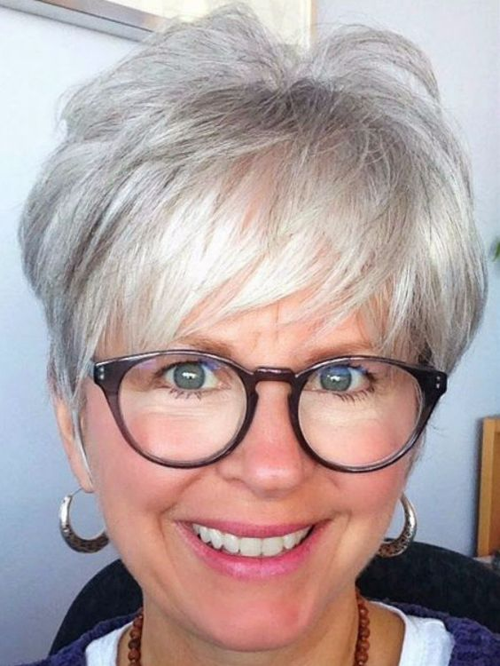 Sexy Pixie Haircut for Women Over 50