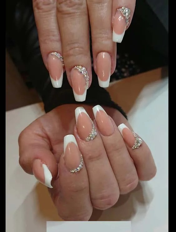 Amazing French Nail Art Designs in 2018 … - Amazing French Nail Art Designs For Classy Manicure In 2018 Stylezco