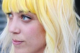 Amazing Yellow Short Hairstyle With Bangs