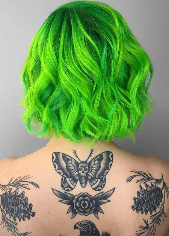 Beautiful Short Green Haircuts for 2018
