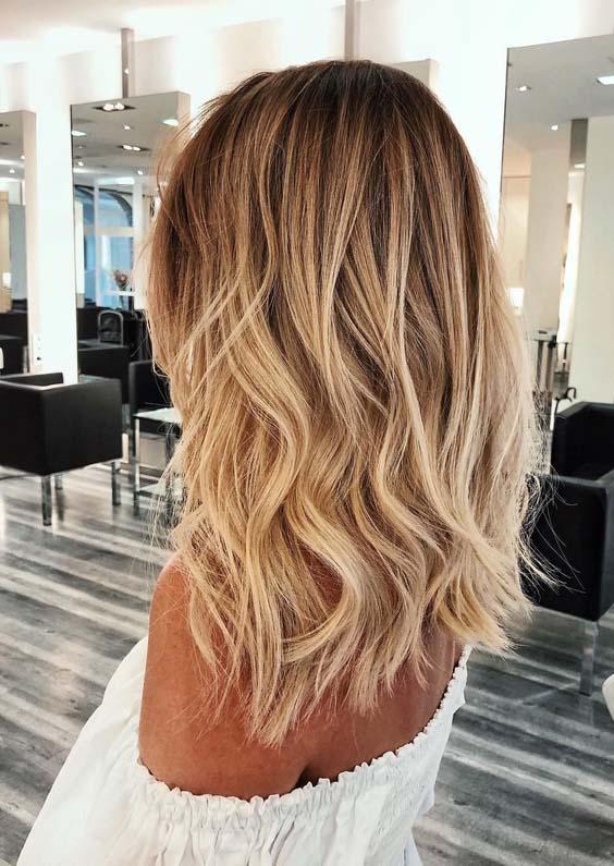 gorgeous golden blonde hair color