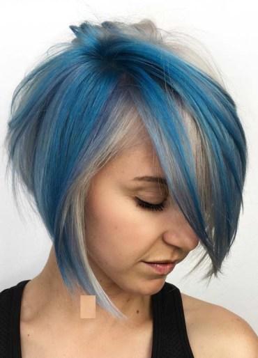 Gorgeous Blue Bob Haircuts in 2018