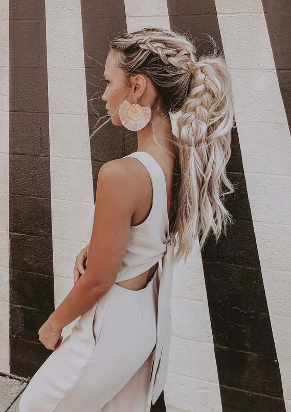 Obsessed Ideas Of Braided Ponytail Hairstyles in 2018