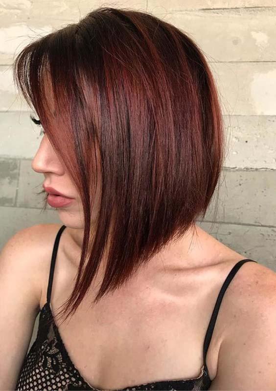 Rich Brown Shades for Bob Haircuts & Hairstyles