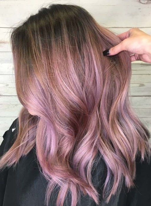 Rose Metallic Hair Color Ideas For Fine Hair