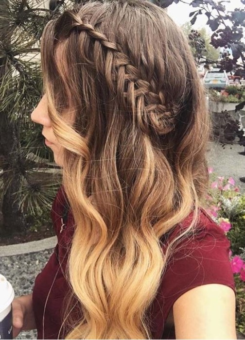 Simple And Cute Feather Loop Braid For Summer Season