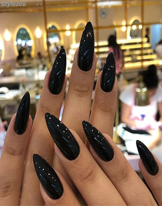 Edgy \u0026 Shinning Black Nail Art Trends for the Beauty of 2018