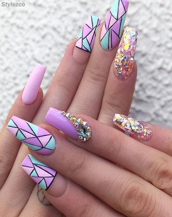 Cool & Trendy Purple Nail Art Design You\'re Not Seen Before | Stylezco