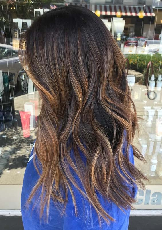 Balayage with Baby Lights to Wear in 2018