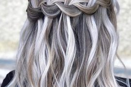 Braids with Grey Blonde Hair Colors in 2018