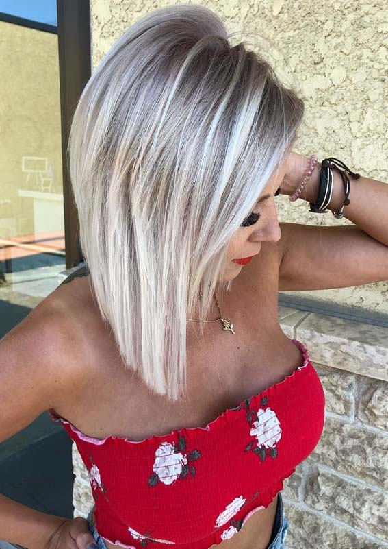 Platinum Blonde Balayage Haircuts in 2018