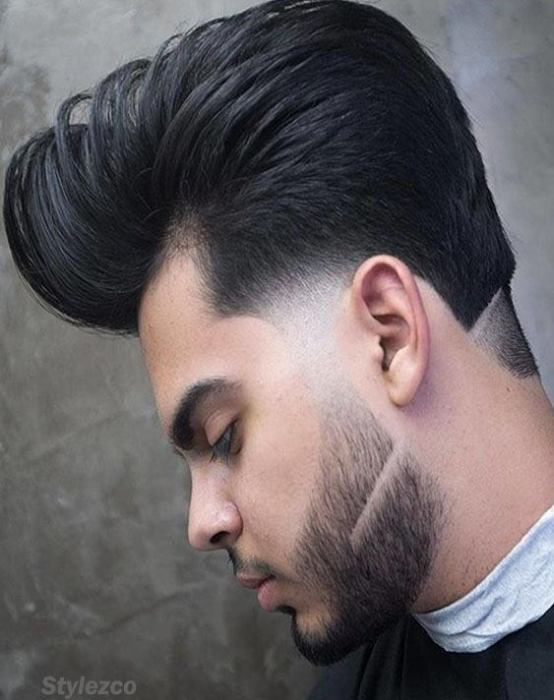 2018 Upside Long Hairstyles with Hot Beards for Men's