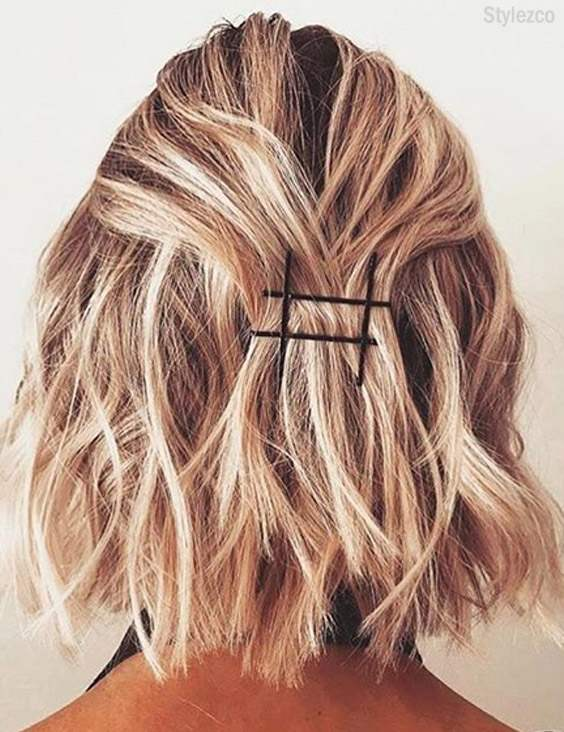 Prettiest Bobby Pins Hairstyles For Short Hair In 2018 Stylezco
