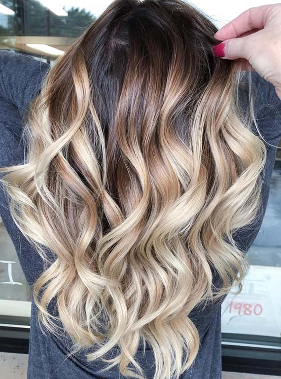Best Dark Melted Chocolate Balayage Hair Color Highlights In 2018
