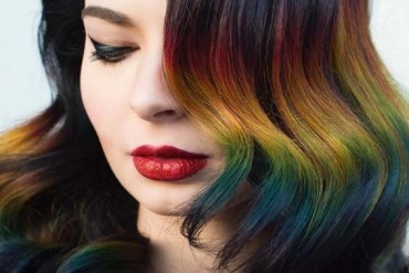 Gorgeous Rainbow Hair Colors For Fine Hair 2018
