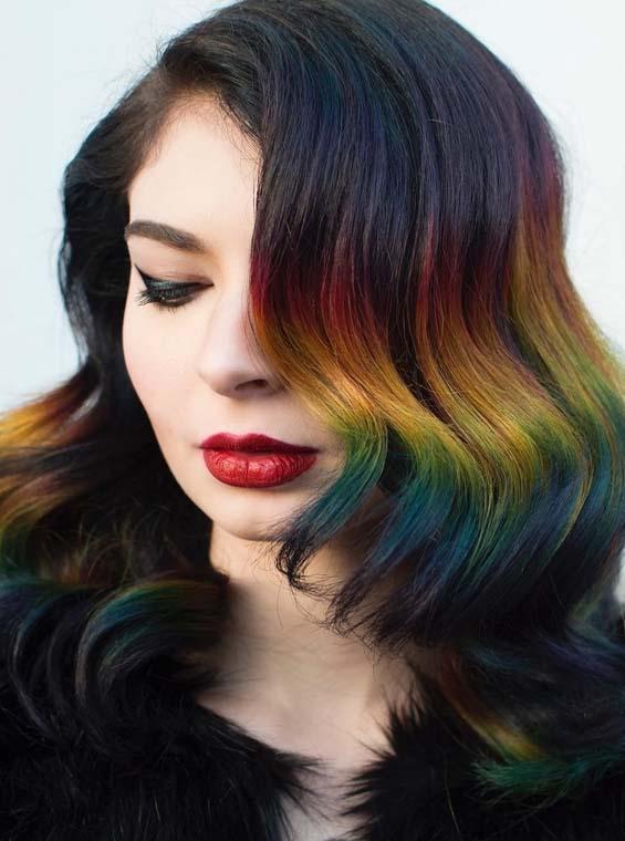 Gorgeous Rainbow Hair Colors For Fine Hair 2018