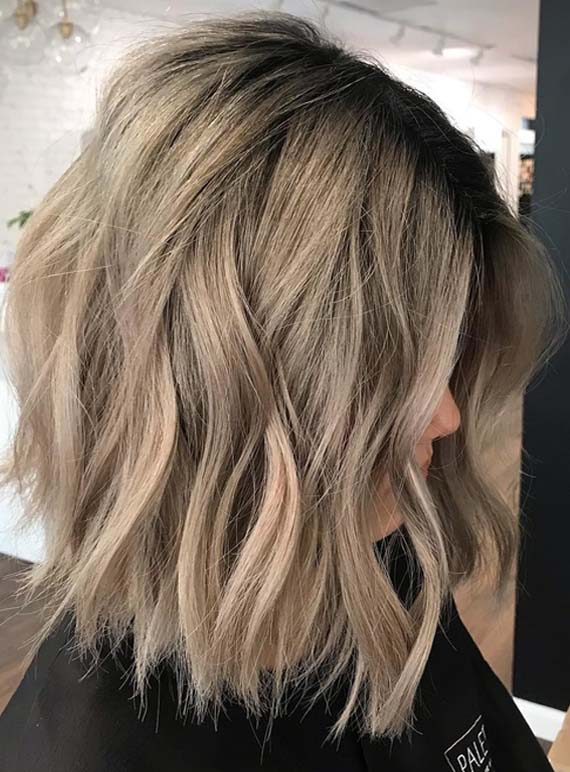 Marvelous Messy Waves With Short Bob Haircuts For 2018 Stylezco