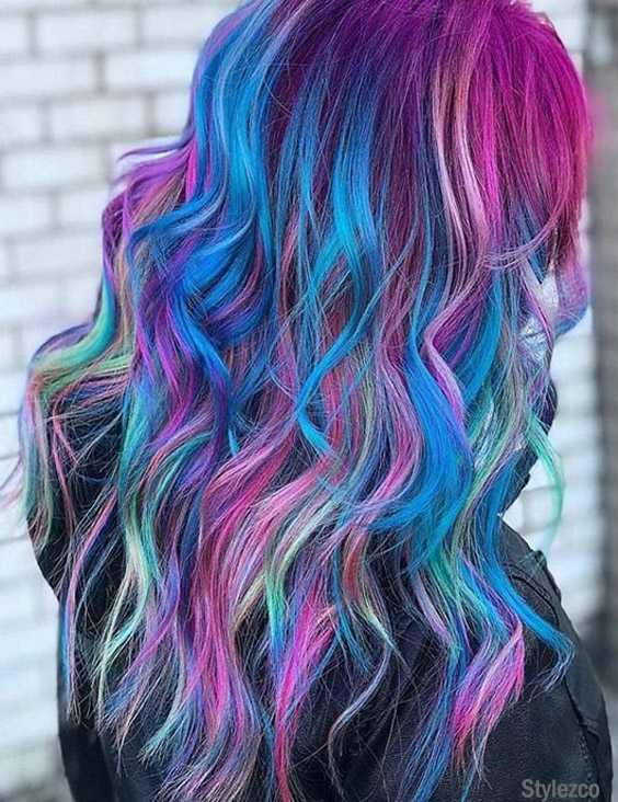 Lovely Rainbow Hair Color Highlight & Styles for 2018
