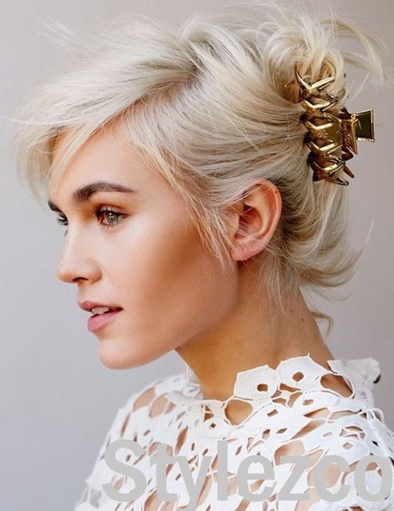 Adorable French Twist Hairstyle with Claw Clip for 2019 ...