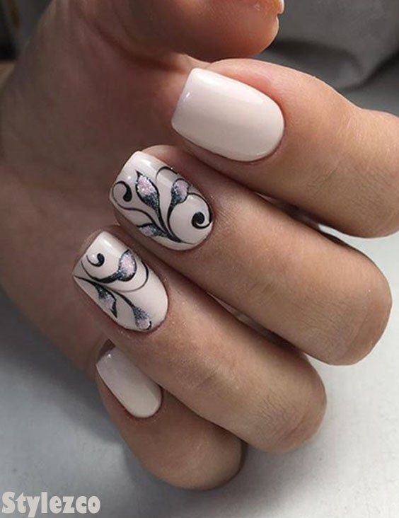 Classical White Nail Designs & Images to Delight In 2018