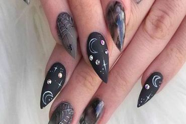 Edgy Black Nail Art Style & Designs To Try Right Now