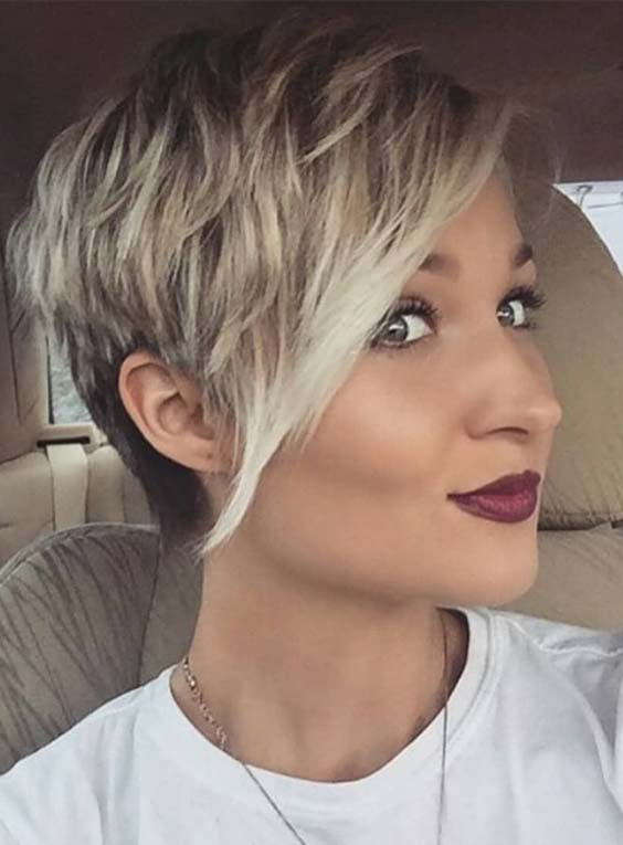 Graceful Short Pixie Haircuts For Chubby Faces In 2019