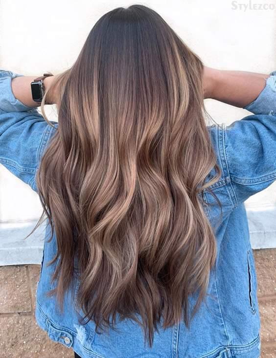Hair Color Highlight Ideas 2019 Melted Chocolate Caramel Hair Color Highlight for 2019 | Stylezco