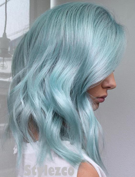 Stunning Metallic Mint Hair Color Trends Amp Ideas For 2018