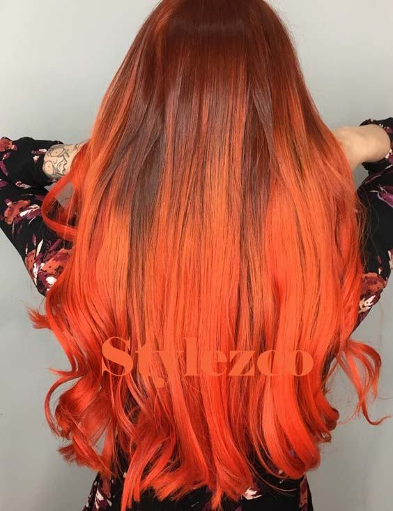 Unique Atomic Orange Hair Colors Ideas for Blonde Girls In 2019