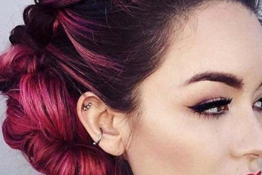 Amazing Updo Hairstyles And Makeup Trends in 2019
