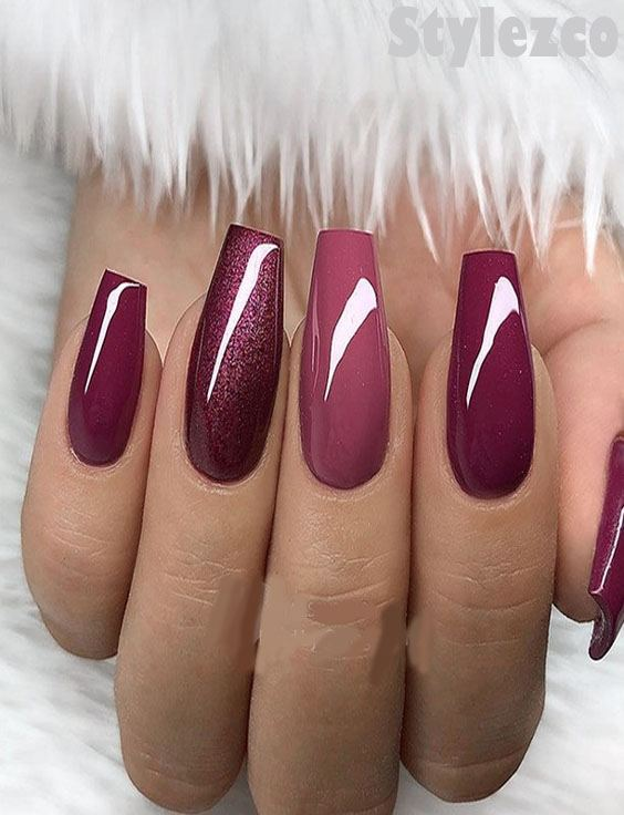 Berry Red Shades Nail Designs Ideas For 2019 Stylezco