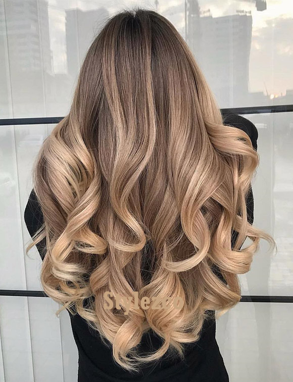 Best Balayage Wavy Hairstyle for Blonde Girls In 2019