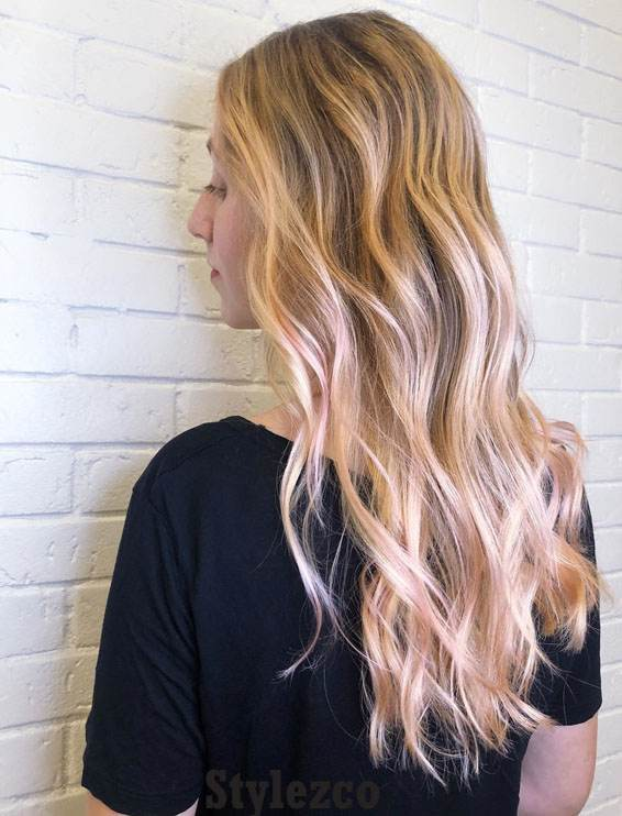 Light Pink & Brown Hair Color Combinations for Ladies