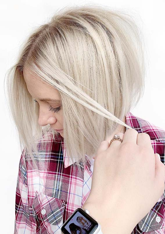 Textured Bright Blonde Bob Haircuts for 2019
