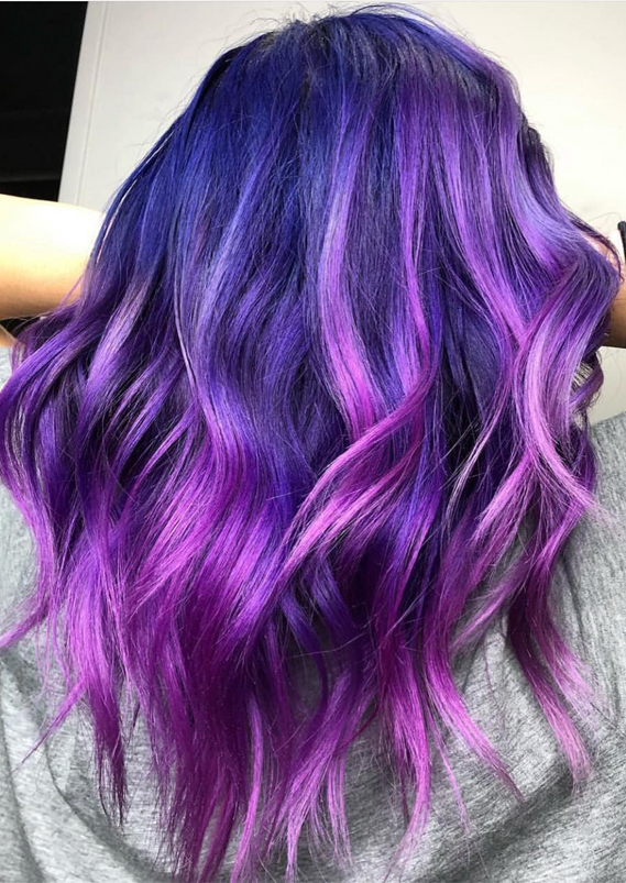 Amazing Purple Hair Colors Highlights in 2019