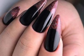 Curtest Black Long Nail Designs for Ladies in 2019