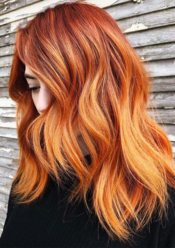 Graceful Ginger Red Medium Hairstyles for 2019