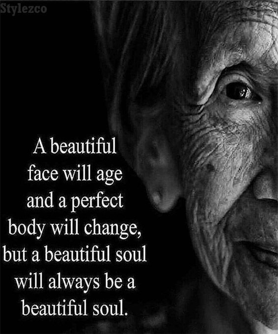 A Beautiful Face will Age - Best Quotes Sayings