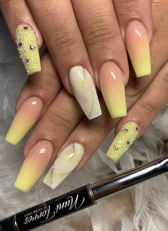 Cute Banana Yellow Nail Polish Ideas for Texas Nails in 2019 | Stylezco