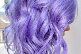 Lovely Metallic Lavender Hair Color Ideas To Try Now