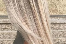 Platinum Balayage Hair Colors for Long Straight Hair in 2019