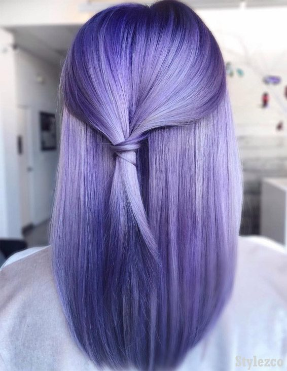 Trendy Purple Hair Color Ideas & Styles for 2019 | Stylezco