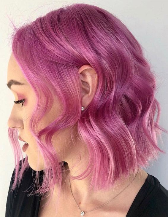Wonderful Pink Short Hair Ideas You Should Try Now