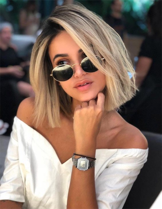 Amazing Shadow Root Hair Style for Short Hair