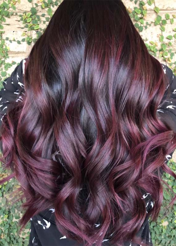 Awesome Plum Hair Color Ideas Amp Shades For 2019 Stylezco