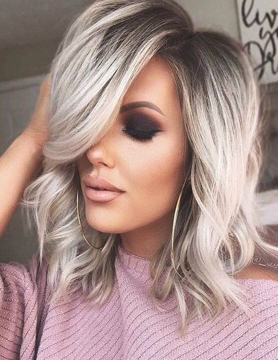 Awesome Silver Shoulder Length Hairstyles In 2019 Stylezco