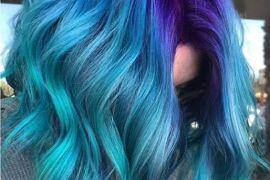 Blue Hair Color Highlights for Medium Hair